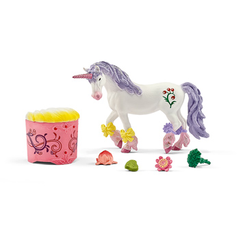 Schleich Unicorn And Pegasus Care And Feed Set