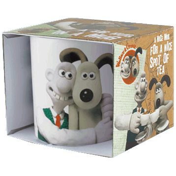 Wallace & Gromit Hug in a Mug